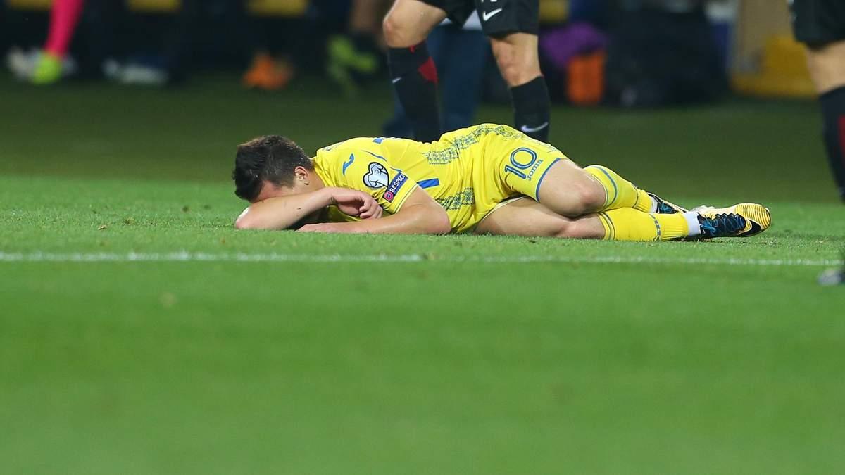 Два футболісти збірної України зазнали травми