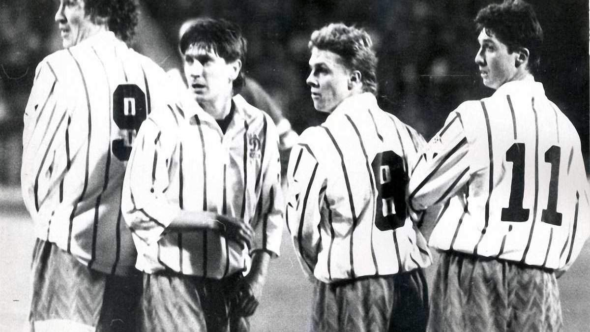 Михайленко, Ковалець, Ребров, Шкапенко (зліва – направо)