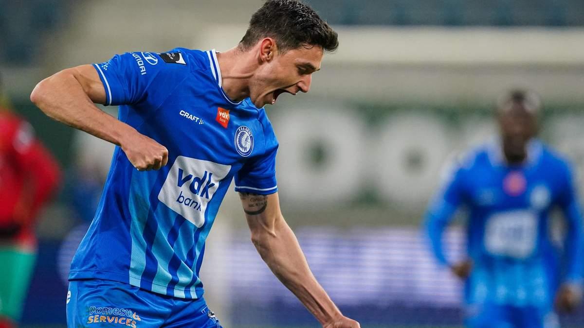 Яремчук празднует гол в ворота Остенде