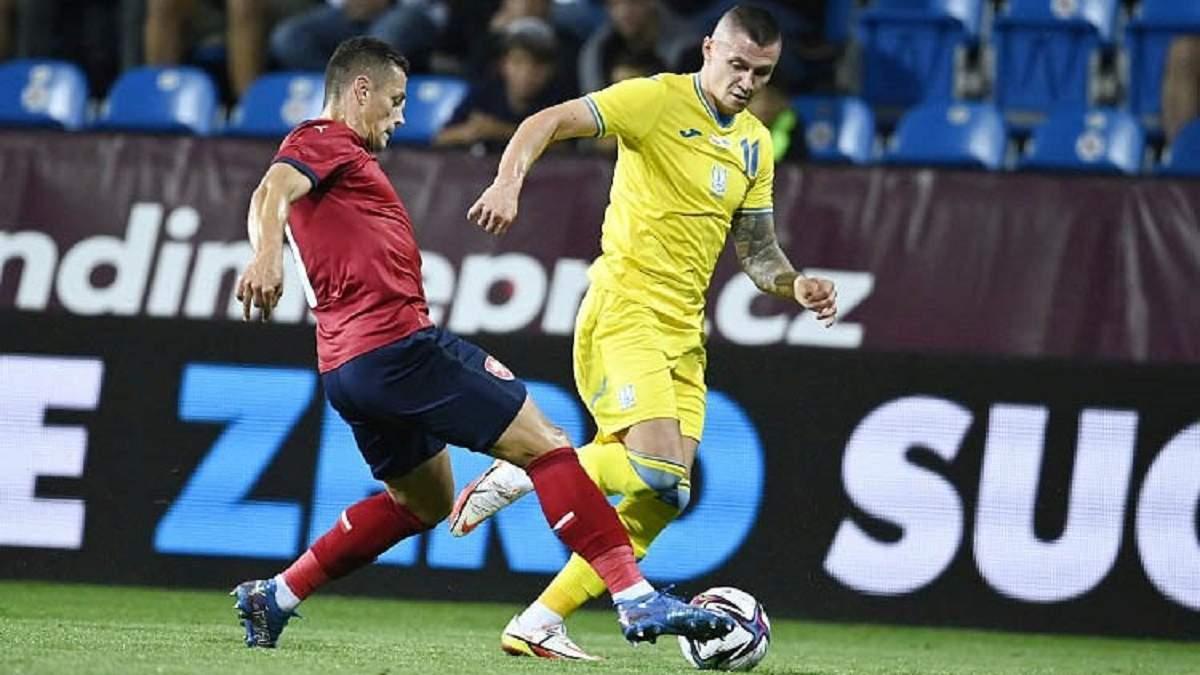 Мне неудобно играть слева, – Зубков объяснил провал Украины в матче с Чехией - Сборная