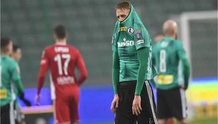 Легія вилетіла з Кубка: Русин дебютував, Шабанов провалив матч: відео