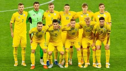 Украина без побед удержалась в топе рейтинга ФИФА