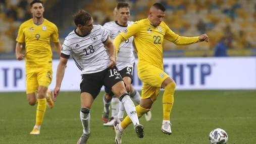 Германия – Украина: стартовые составы на матч Лиги наций