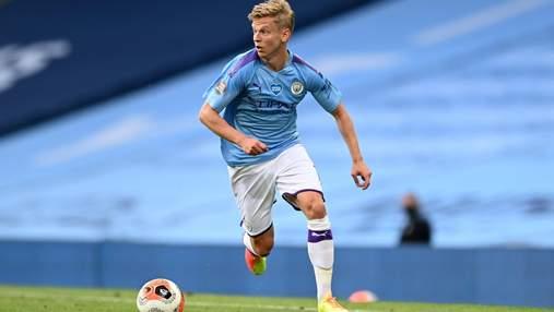 Зінченко – в заявці Манчестер Сіті на матч Ліги чемпіонів
