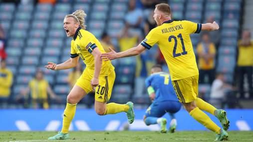 Зловещий рикошет – лучший бомбардир Швеции сравнивает счет: видео гола в ворота Украины