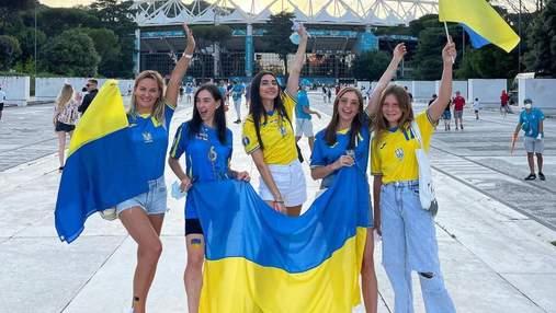 Жіноча сила: як кохані українських футболістів підтримували збірну у Римі
