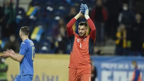 Бущан получил травму – основной голкипер сборной может пропустить важные для Украины матчи