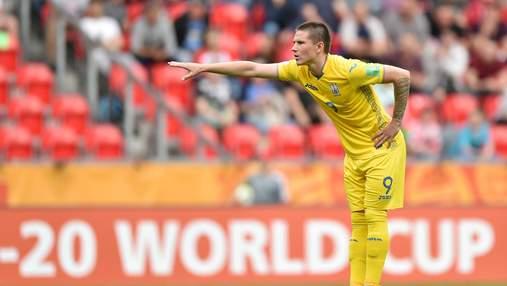 Украина забивает Чехии благодаря мощному удару дебютанта: яркое видео