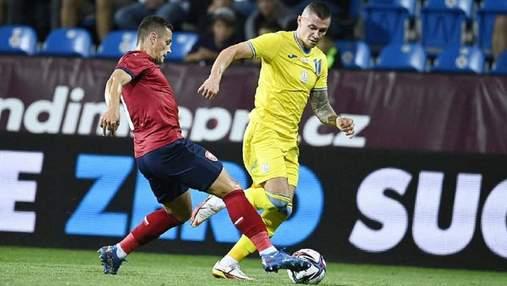 Мені незручно грати зліва, –Зубков пояснив провал України у матчі з Чехією