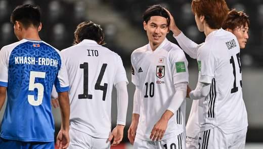 Япония уничтожила Монголию 14 голами: видео футбольного издевательства